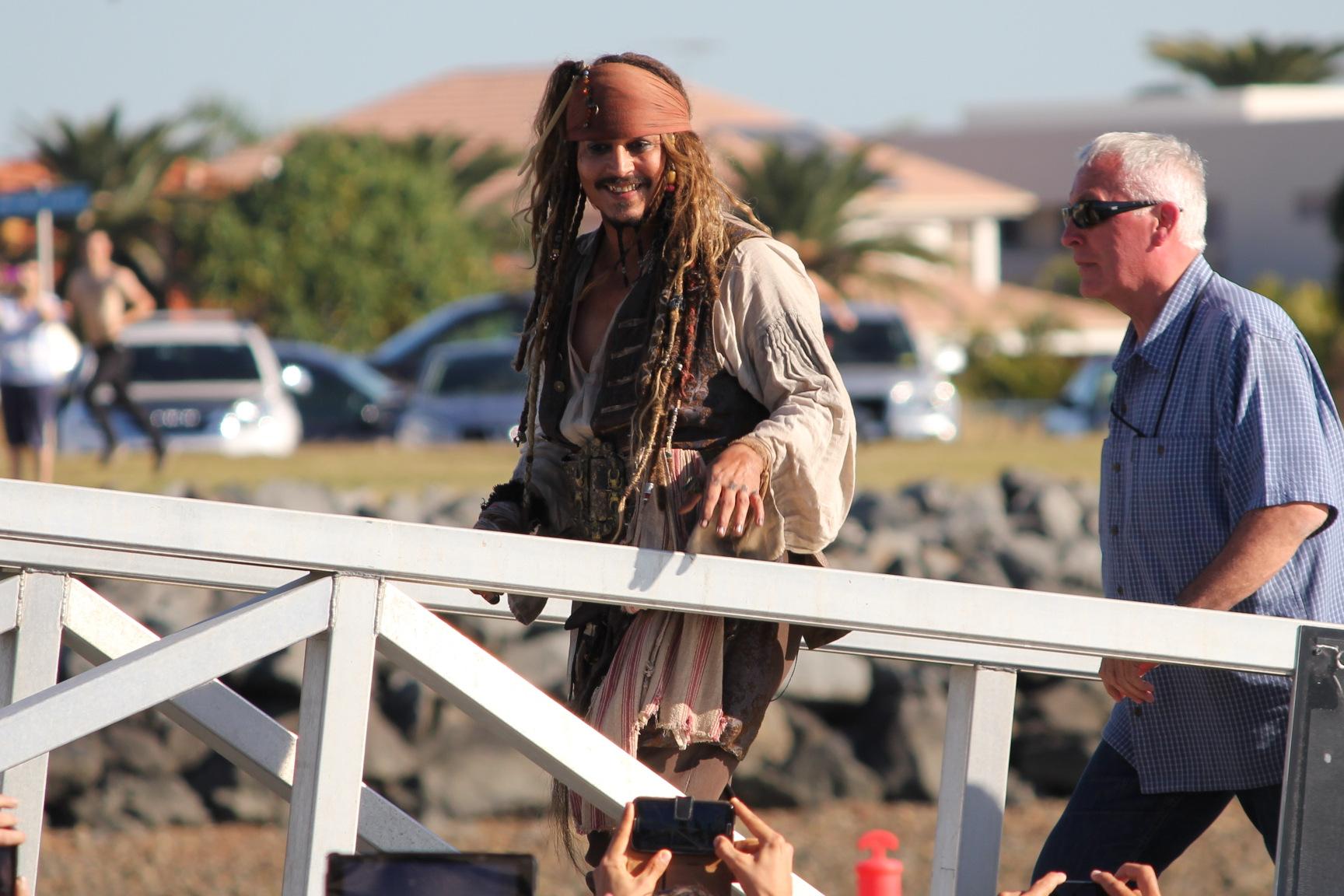 """Джонни Депп в """"Пиратах Карибского моря"""""""